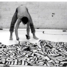 <p>Keith Haring (American, 1958–1990). Still from <i>Painting Myself into a Corner</i>, 1979. Video, 33 min. Collection Keith Haring Foundation. © Keith Haring Foundation</p>