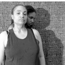 <p>LaToya Ruby Frazier (American, b. 1982). <i>Shadow</i> (from the <i>Momme Portrait</i> series), 2008. Gelatin silver photograph, 15<sup>1</sup>⁄<sub>2</sub> x 19<sup>1</sup>⁄<sub>2</sub> in. (39.4 x 49.5 cm). Brooklyn Museum, Emily Winthrop Miles Fund, 2011.63.2. © LaToya Ruby Frazier</p>