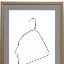 <p>Ai Weiwei (Chinese, b. 1957). <i>Profile of Marcel Duchamp in a Coat Hanger</i>, 1986. Wire clothes hanger, hanger: 15 x 11 in. (38.1 x 27.9 cm), frame: 27 x 20 in. (68.6 x 50.8 cm). Collection of Larry Warsh. © Ai Weiwei. Photo: Tim Nighswander/IMAGING4ART</p>
