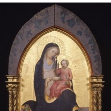 Lorenzo Monaco (Italian, Florentine, circa 1370–circa 1424). Madonna of Humility, circa 1415–20. Tempera and gold on panel. Brooklyn Museum, Gift of Mary Babbott Ladd, Lydia Babbott Stokes, and Frank L. Babbott, Jr., in memory of their father, Frank L. Babbott, 34.842