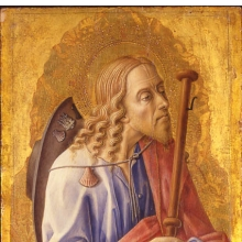 <p>Carlo Crivelli (Italian, Venetian, circa 1430/5–1494). <i>Saint James Major</i>, 1472. Tempera and gold on panel. Brooklyn Museum, Bequest of Helen Babbott Sanders, 78.151.10</p>