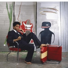 Jean-Michel Basquiat in his studio, 1985. Photograph © Lizzie Himmel