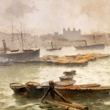 <p>Frank Myers Boggs (American, 1855–1926). <i>On the Thames</i>, 1883. Oil on canvas. The Metropolitan Museum of Art, New York. George A. Hearn Fund, 1909</p>