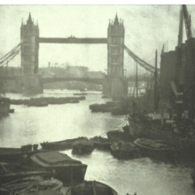 <p>Alvin Langdon Coburn (British, born United States, 1882–1966). <i>The Tower Bridge</i>, 1909. Photogravure. Museum of Fine Arts, St. Petersburg, Florida. Museum purchase with funds provided by the Collectors Circle</p>