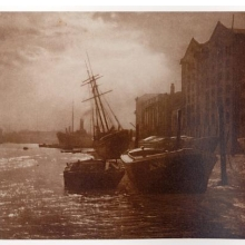 <p>Charles Job (British, 1853–1930). <i>The Thames below London Bridge</i>, n.d. Bromoil print. Courtesy of the Royal Photographic Society at the National Museum of Photography, Film and Television, Bradford, England</p>