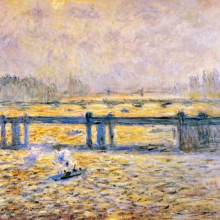 <p>Claude Monet (French, 1840–1926). <i>Charing Cross Bridge, Reflections on the Thames</i>, 1901–04. Oil on canvas. The Baltimore Museum of Art. The Helen and Abram Eisenberg Collection</p>