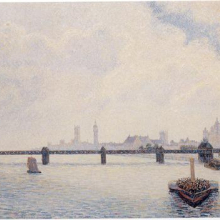 <p>Camille Pissarro (French 1830–1903). <i>Charing Cross Bridge, London</i>, 1890. Oil on canvas. National Gallery of Art, Washington, D.C. Collection of Mr. and Mrs. Paul Mellon</p>