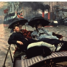 <p>James Tissot (French, 1836–1902). <i>The Thames</i>, 1876. Oil on canvas. Wakefield Art Gallery, Wakefield, England</p>