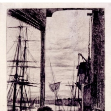 <p>James McNeill Whistler (American, 1834–1903). <i>Rotherhithe</i>, 1860. Etching and drypoint on Japan paper. The Baltimore Museum of Art. The George A. Lucas Collection. Purchased with funds from the State of Maryland, Laurence and Stella Bendann Fund, and contributions from individuals, foundations, and corporations throughout the Baltimore community</p>