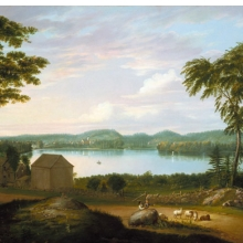 <p>Alvan Fisher (American, 1792–1863).<i> View of Springfield on the Connecticut River</i>, 1819. Oil on canvas. Brooklyn Museum, Dick S. Ramsay Fund, 50.65.</p>
