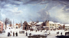 <p>Francis Guy (American, 1760–1820). <i>Winter Scene in Brooklyn</i>, circa 1819–20. Oil on canvas. Private Collection.</p>