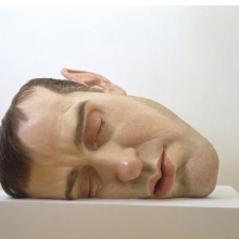 <p>Ron Mueck (Australian, b. 1958). <i>Mask II</i>, 2001–2002. Mixed media, 30<sup>3</sup>⁄<sub>8</sub> x 46<sup>1</sup>⁄<sub>2</sub> x 33<sup>1</sup>⁄<sub>2</sub> in. (77.2 &#215; 118.1 &#215; 85.1 cm). Collection of the Art Supporting Foundation to the San Francisco Museum of Modern Art</p>