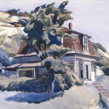<p>Edward Hopper (American, 1882–1967). <i>House at Riverdale</i>, 1928. Watercolor with graphite sketch on white, medium weight, roughly textured wove paper. Brooklyn Museum, Bequest of Anita Steckler, 2003.1</p>