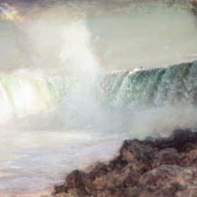 <p>Arthur Parton (American, 1842–1914). <i>Niagara Falls</i>, ca. 1880. Transparent and opaque watercolor on cream, thick, moderately textured wove paper. Brooklyn Museum, Gift of the Henfield Foundation, Inc., 70.174</p>