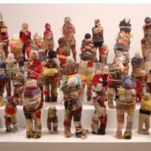 <p>Alex Burke (b. Martinique 1944; works in France). T<em>he Spirit of Caribbean</em>, 2006. Forty-seven dolls; fabric and other materials, dimensions variable. Courtesy of the artist (Photo: Franck Girier Du Fournier)</p>