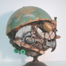 <p>Arthur Simms (b. Jamaica 1961; works in United States), and Peter Orner (b. United States 1968). <em>Globe: The Veld</em>, 2004. Mixed media, 17 × 14 × 14 in. (43.2 × 35.6 × 35.6 cm). Courtesy of the artist</p>