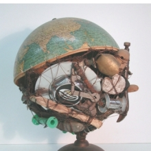 <p>Arthur Simms (b. Jamaica 1961; works in United States), and Peter Orner (b. United States 1968). <em>Globe: The Veld</em>, 2004. Mixed media, 17 &times; 14 &times; 14 in. (43.2 &times; 35.6 &times; 35.6 cm). Courtesy of the artist</p>