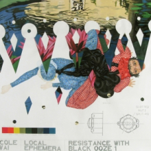 <p>Nicole Awai (b. Trinidad 1966; works in United States). <em>Specimen from L.E. (Local Ephemera): Resistance with Black Ooze</em>, 2005. Graphite, acrylic paint, nail polish, and glitter on paper, 52 × 58 in. (132.1 × 147.3 cm). Courtesy of the artist (Photo: Jason Mandella)</p>