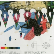 <p>Nicole Awai (b. Trinidad 1966; works in United States). <em>Specimen from L.E. (Local Ephemera): Resistance with Black Ooze</em>, 2005. Graphite, acrylic paint, nail polish, and glitter on paper, 52 &times; 58 in. (132.1 &times; 147.3 cm). Courtesy of the artist (Photo: Jason Mandella)</p>