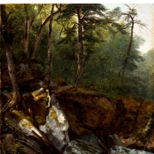 <p>Asher B. Durand (American, 1796–1886). <i>Study from Nature: Rocks and Trees in the Catskills, New York</i>, circa 1856. Oil on canvas. The New-York Historical Society Museum, Gift of Lucy Maria Durand Woodman, 1907.20</p>