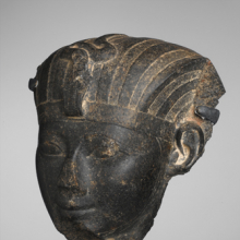 Head of Hatshepsut or Thutmose III. Egypt, provenance not known. New Kingdom, Dynasty 18, circa 1479–1425 B.C.E.  Granite. Brooklyn Museum, Charles Edwin Wilbour Fund, 55.118