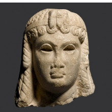 <p><em>Ptolemaic Queen (Cleopatra VII ?)</em>. Egypt, provenance not known. Ptolemaic Period, 305&ndash;30 <small>B.C.E.</small></p>  <p>Marble. Brooklyn Museum, Charles Edwin Wilbour Fund, 71.12</p>