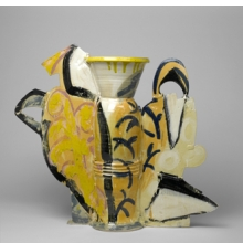 Betty Woodman (American, b. 1930). Still Life Vase #10, 1990. Glazed earthenware. Brooklyn Museum, Gift of Laurence Shopmaker in memory of Scott Brown, 1992.109