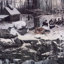 <p>Anthony Goicolea (American, b. 1971). <em>Ice Storm</em>, 2005. Chromogenic print, 72 × 92 in. (182.9 × 233.7 cm). Brooklyn Museum, Bequest of Mrs. Carl L. Selden, by exchange, and Dick S. Ramsay Fund, 2005.19</p>