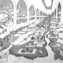 <p>Seher Shah (Pakistani, b. 1975). <em>Interior Courtyard 2</em>, 2007. Graphite pencil on white, medium weight, wove paper, 80 × 120 in. (203.2 × 304.8 cm). Brooklyn Museum, Purchase gift of Dr. Margaret Hammerschlag and gift of Donald T. Johnson, by exchange, 2008.4</p>