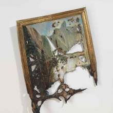 <p>Valerie Hegarty (American, b. 1967). <em>Fallen Bierstadt</em>, 2007. Foamcore, paint, paper, glue, gel medium, canvas, wire, and wood. Brooklyn Museum, Gift of Campari, USA, 2008.9a–b.</p>