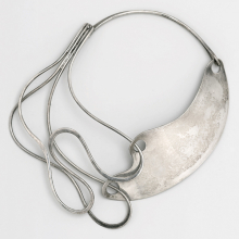 "<p>Art Smith (American, 1917–1982). <i>""Half &amp; Half"" Necklace</i>, designed by 1948. Silver. Brooklyn Museum, Gift of Mark McDonald, 2007.59</p>"