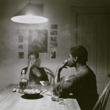 Carrie Mae Weems (American, b. 1953). Untitled (Man Smoking/Malcolm X), from the Kitchen Table series, 1990. Gelatin silver print, edition 5 of 5. Brooklyn Museum, Caroline A. L. Pratt Fund, 1991.168