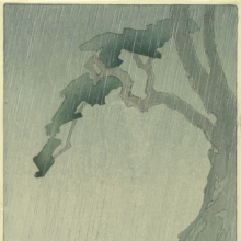 Bertha Lum (American, 1879–1954). Rain, 1908. Color woodcut on cream, thin, Japanese wove paper. Brooklyn Museum, Gift of the Achenbach Foundation for Graphic Arts, 63.108.2