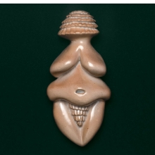 <p>Judy Chicago (American, b. 1939). <em>Ceramic Goddess #3 (Study for Goddess Figurine on Fertile Goddess runner)</em>, 1977. Glazed ceramic, 10 &times; 8<sup>1</sup>&frasl;<sub>2</sub> x 3 in. (25.4 &times; 21.6 &times; 7.6 cm). Courtesy of ACA Galleries, NYC, and the artist</p>