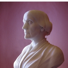 Adelaide Johnson (American, 1859–1955). Susan B. Anthony, 1892. Marble. Collection of the historic National Woman's Party, the Sewall-Belmont House and Museum, Washington, D.C.