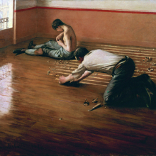 <p>Gustave Caillebotte (French, 1848–1894). <i>The Floor Scrapers</i>, 1876. Oil on canvas, 31<sup>1</sup>⁄<sub>2</sub> x 39<sup>3</sup>⁄<sub>8</sub> in. (80 × 100 cm). Private collection</p>