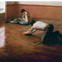 <p>Gustave Caillebotte (French, 1848&ndash;1894). <i>The Floor Scrapers</i>, 1876. Oil on canvas, 31<sup>1</sup>&frasl;<sub>2</sub> x 39<sup>3</sup>&frasl;<sub>8</sub> in. (80 &times; 100 cm). Private collection</p>