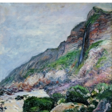 <p>Gustave Caillebotte (French, 1848&ndash;1894). <i>Cliffs in Normandy</i>, 1880. Oil on canvas, 28<sup>3</sup>&frasl;<sub>4</sub> x 23<sup>5</sup>&frasl;<sub>8</sub> in. (73 &times; 60 cm). Private collection</p>