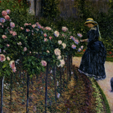 <p>Gustave Caillebotte (French, 1848–1894). <i>Roses in the Garden at Petit Gennevilliers</i>, 1886. Oil on canvas, 35<sup>1</sup>⁄<sub>16</sub> x 45<sup>11</sup>⁄<sub>16</sub> in. (89 × 116 cm). Private collection</p>