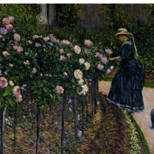 <p>Gustave Caillebotte (French, 1848&ndash;1894). <i>Roses in the Garden at Petit Gennevilliers</i>, 1886. Oil on canvas, 35<sup>1</sup>&frasl;<sub>16</sub> x 45<sup>11</sup>&frasl;<sub>16</sub> in. (89 &times; 116 cm). Private collection</p>