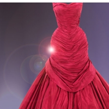 "Charles James (American, born England, 1906–1978). ""Tree"" Evening Dress (detail), 1955. Rose pink silk taffeta; white silk satin; red, pink and white tulle. Brooklyn Museum Costume Collection at The Metropolitan Museum of Art, Gift of Mrs. Douglas Fairbanks, Jr., 1981 (2009.300.991)"