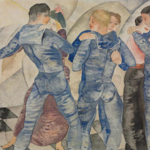 <p>Charles Demuth (American, 1883–1935). <em>Dancing Sailors</em>, 1917. Watercolor over graphite on paper, 8 × 10 in. (20.3 × 25.4 cm). Courtesy Demuth Museum, Lancaster, Pennsylvania</p>