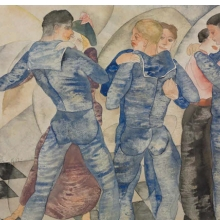 <p>Charles Demuth (American, 1883&ndash;1935). <em>Dancing Sailors</em>, 1917. Watercolor over graphite on paper, 8 &times; 10 in. (20.3 &times; 25.4 cm). Courtesy Demuth Museum, Lancaster, Pennsylvania</p>