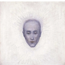 <p>Florine Stettheimer (American, 1871&ndash;1944). <em>Portrait of Marcel Duchamp</em>, circa 1925. Oil on canvas, 24<sup>1</sup>&frasl;<sub>4</sub> x 24<sup>1</sup>&frasl;<sub>2</sub> in. (61.6 &times; 62.2 cm). Gift from the Estate of Ettie and Florine Stettheimer, Michele and Donald D&rsquo;Amour Museum of Fine Arts, Springfield, Massachusetts. Photography by David Stansbury</p>