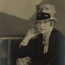 <p>Berenice Abbott (American, 1898–1991). <em>Janet Flanner</em>, 1927. Gelatin silver print, 9<sup>1</sup>⁄<sub>2</sub> x 7<sup>3</sup>⁄<sub>8</sub> in. (24.1 × 18.7 cm). Prints and Photographs Division, Library of Congress, Washington, D.C. © Berenice Abbott/Commerce Graphics, New York</p>