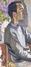 <p>Alice Neel (American, 1900–1984). <em>Frank O'Hara</em>, 1960. Oil on canvas, 33<sup>3</sup>⁄<sub>4</sub> x 16 × 1 in. (85.7 × 40.6 × 2.5 cm). National Portrait Gallery, Smithsonian Institution, NPG.96.128; gift of Hartley S. Neel. © Estate of Alice Neel</p>