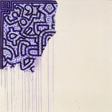 <p>Keith Haring (American, 1958–1990). <em>Unfinished Painting</em>, 1989. Acrylic on canvas, 39<sup>3</sup>⁄<sub>8</sub> x 39<sup>3⁄</sup><sub>8</sub> in. (100.0 × 100.0 cm). Courtesy of Katia Perlstein, Brussels, Belgium ©Keith Haring Foundation</p>