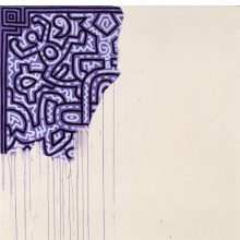 <p>Keith Haring (American, 1958&ndash;1990). <em>Unfinished Painting</em>, 1989. Acrylic on canvas, 39<sup>3</sup>&frasl;<sub>8</sub> x 39<sup>3&frasl;</sup><sub>8</sub> in. (100.0 &times; 100.0 cm). Courtesy of Katia Perlstein, Brussels, Belgium &copy;Keith Haring Foundation</p>