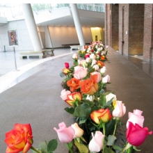 <p>Lee Mingwei (American, b. Taiwan, 1964). <i>The Moving Garden</i>, 2009. Installation view, Brooklyn Museum (2011). Stainless steel, granite, water, fresh flowers, 2 &#215; 4.4 &#215; 39.4 ft. (0.6 &#215; 1.34 &#215; 12 m). Collection of Amy and Leo Shih, Taichung, Taiwan</p>