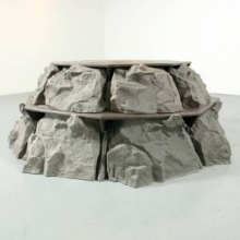 <p>Kristof Wickman (American, b. 1981). <i>Don't Let It Get You Down</i>, 2010. Plastic lumber, cast pigmented plastic, 30 &#215; 51 &#215; 51 in. (76.2 &#215; 129.5 &#215; 129.5 cm). © the artist; courtesy of the artist</p>